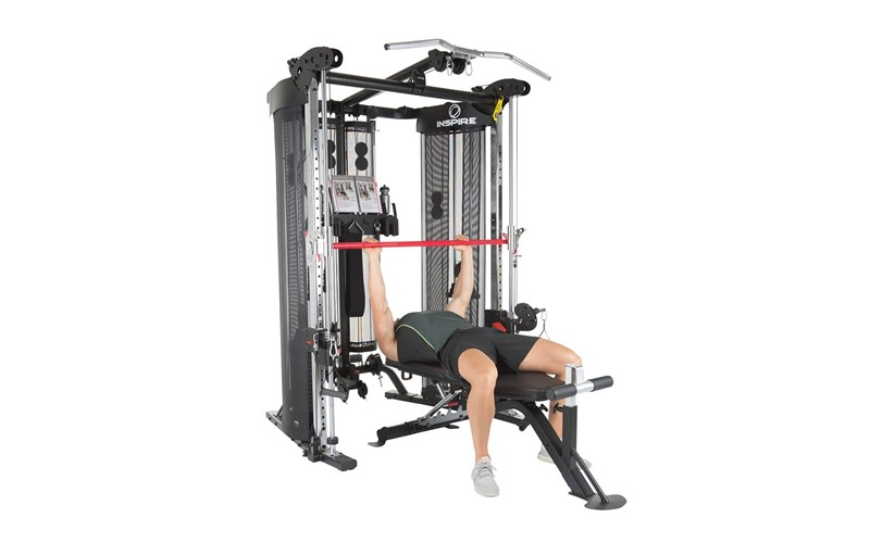 Functional Trainer FT2 mit Bank+ Beincurl, Inspire by Hammer